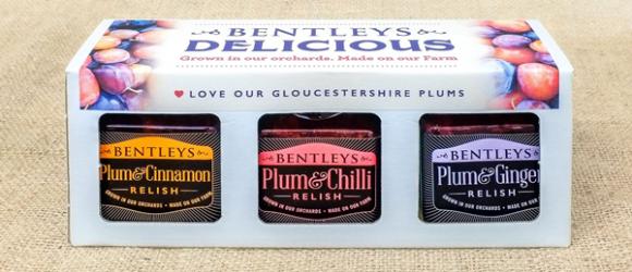 Presentation box of Bentleys Delicious Relishes