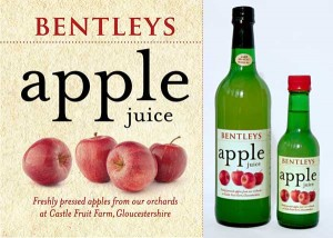 Bentleys Apple Juice with bottles