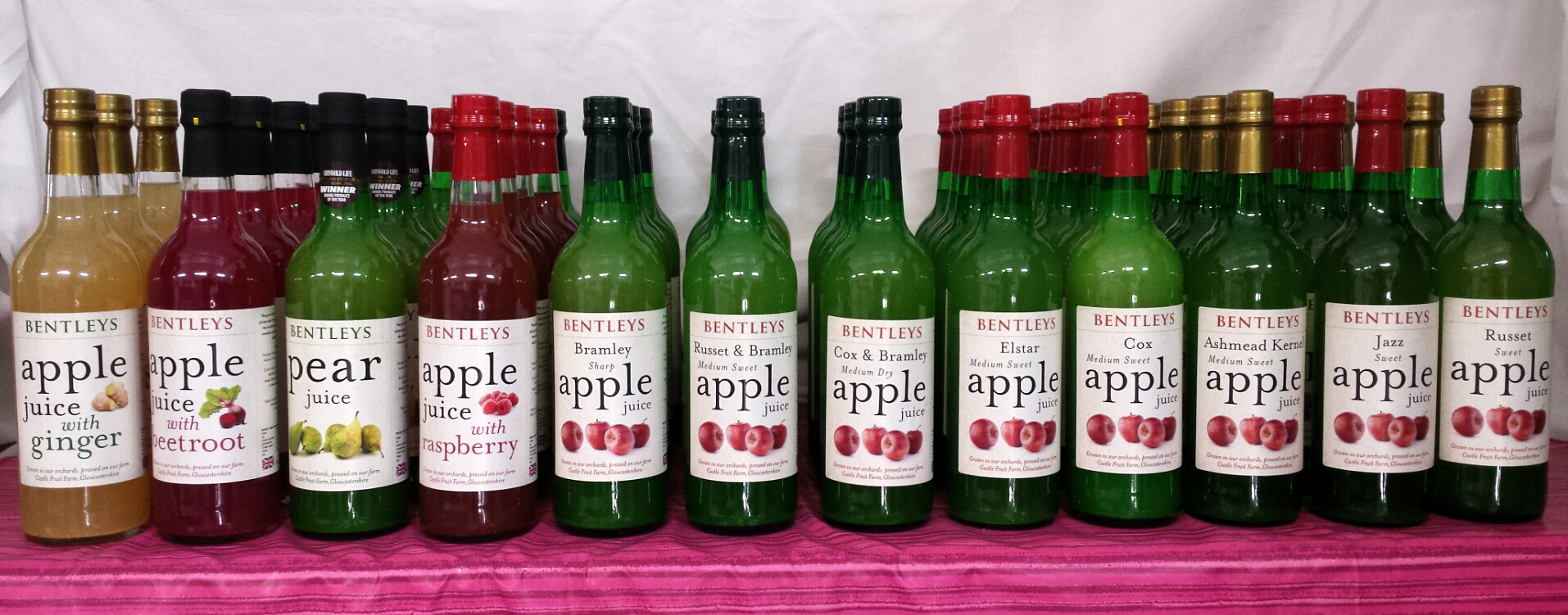 Apples Pears Plums And Cold Pressed Juices From